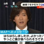 めざましテレビの縦読み「はやく逃げて」SMAPへの願いと覚悟か